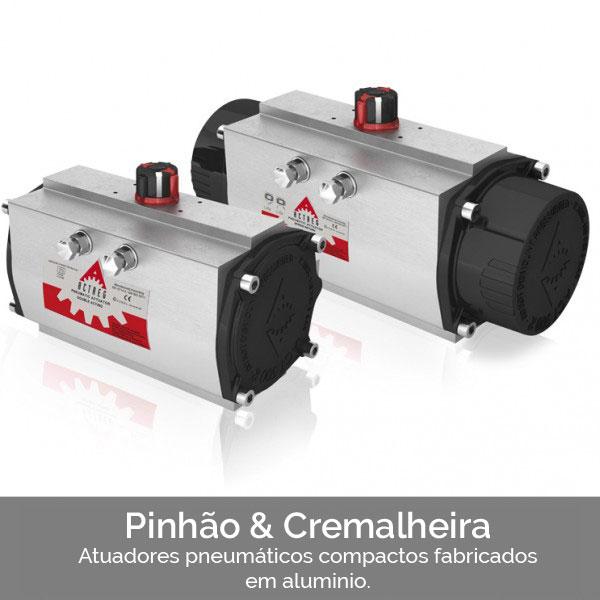 PINHAO & CREMALHEIRA ATUADORES PNEUMÁTICOS